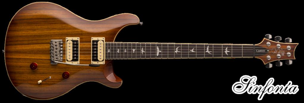 guitarra electrica prs se custom 24 zebrawood