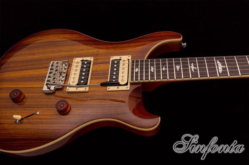 guitarra electrica prs se custom 24 zebrawood cuerpo