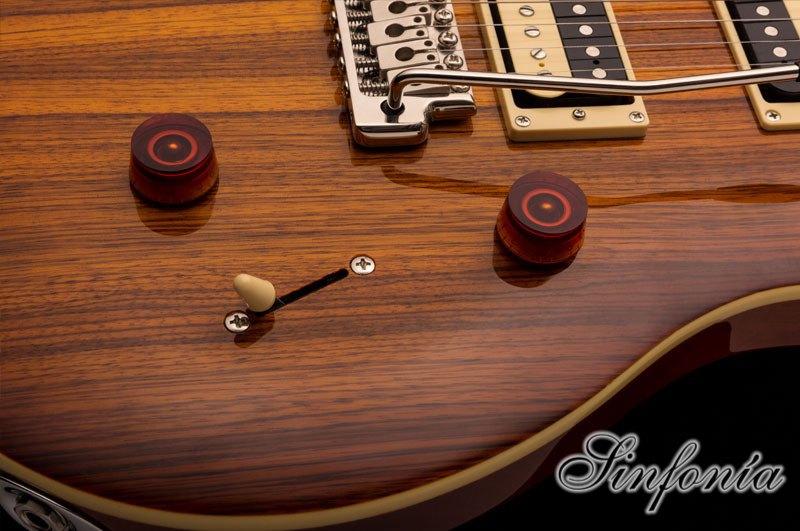 guitarra electrica prs se custom 24 zebrawood tuner