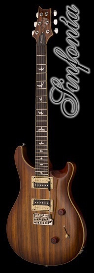 guitarra electrica prs se custom 24 zebrawood vintage sunburst