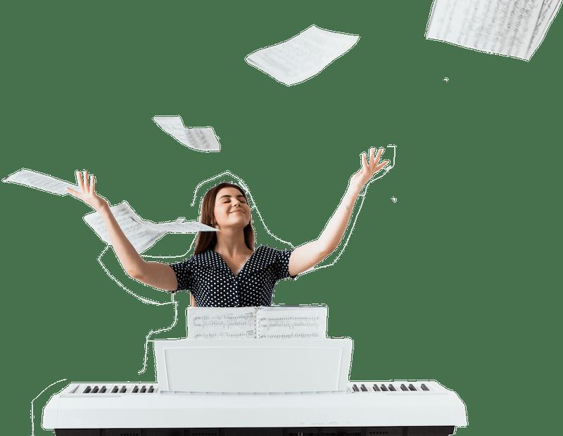 piano digital gewa de estudio