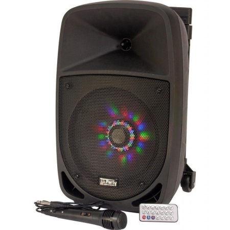 ALTAVOZ IBIZA PARTY 8LED BATERIA USB BLUETOOTH TROLLEY