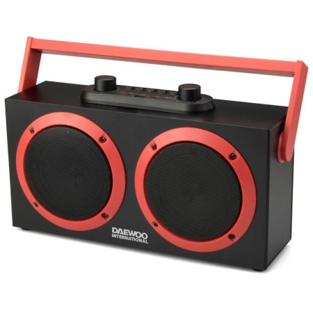 ALTAVOZ DAEWOO DSK340R BLUETOOTH COLOR ROJO