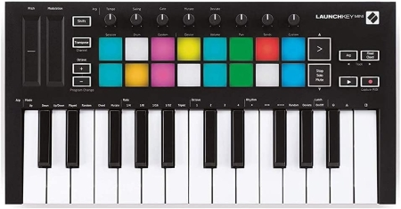 TECLADO NOVATION LAUNCHKEY MINI MK3 CONTROLADOR