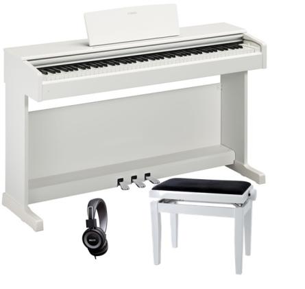 PACK PIANO YAMAHA YDP164WH BLANCO   BANQUETA   AURICULARES