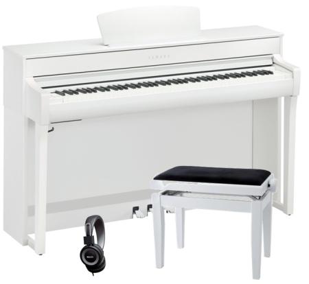 PACK PIANO YAMAHA CLP735WH BLANCO   BANQUETA   AURICULARES