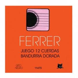 JUEGO CUERDAS FERRER BANDURRIA DORADAS GATO NEGRO 11470