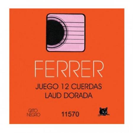 JUEGO CUERDAS FERRER LAUD DORADAS 11570