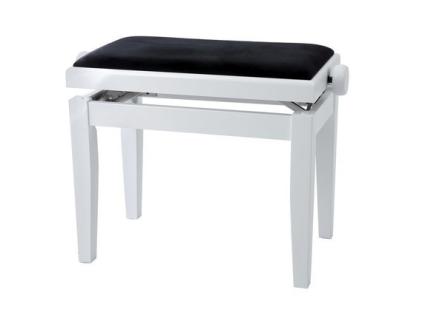 BANQUETA GEWA 130020 PIANO REGULABLE BLANCA MATE