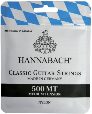 JUEGO CUERDAS HANNABACH GUITARRA CLASICA TENSION MEDIA 500MT