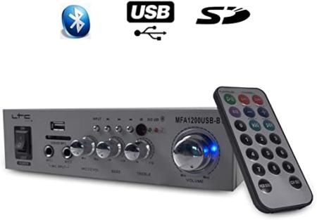 AMPLIFICADOR LTC MFA1200 USB STEREO 2X50W
