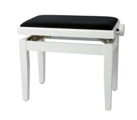BANQUETA GEWA 130030 PIANO REGULABLE BLANCO PULIDO